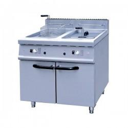 Le Shopping du Chef - Friteuse gaz sur coffre 2 x 20 litres