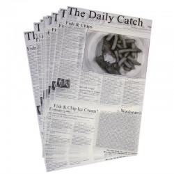 Carrés de papier ingraissable avec imprimé journal