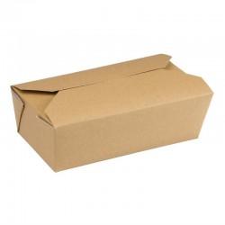 Cartons alimentaires rectangulaires kraft Colpac 985ml (lot de 250)