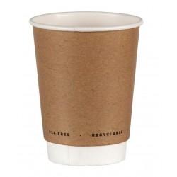 Gobelets papier compostables double paroi boissons chaudes Fiesta Green 225 ml ou 340 ml