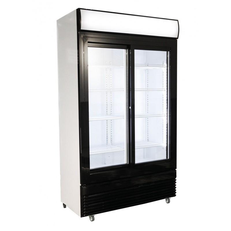 Réfrigérateur avec 2 portes coulissantes en verres 780Ltr - Combisteel