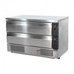 Soubassement double réfrigération 2 tiroirs Polar Série U 4x GN 1/1