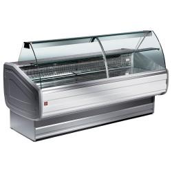 Comptoir 2000 mm vitrine réfrigéré à vitre bombée avec réserve
