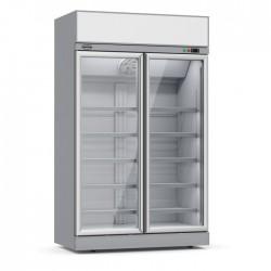 Combisteel - Vitrine réfrigérée positive 2 portes vitrées avec canopy
