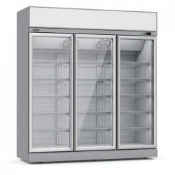 Combisteel - Vitrine réfrigérée positive 3 portes vitrées avec canopy