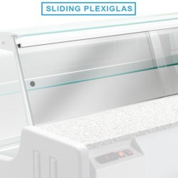 KIT plexiglass coulissants HILL 2500 mm