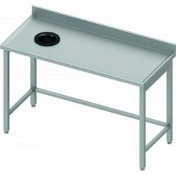 Table à dosseret avec Trou vide ordure de 1730 x 700 mm