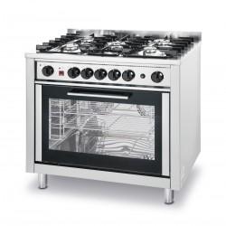 EKA - Cuisinière à gaz - 5 feux sur four électrique