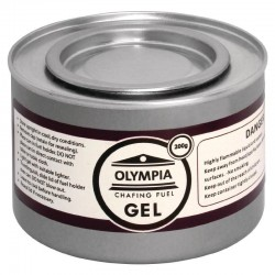 Olympia - Gel combustible pour chafing dish 200 grs