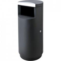 Poubelle 40l noir - Combisteel