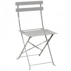 Bolero - Chaise de terrasse en acier gris (lot de 2)
