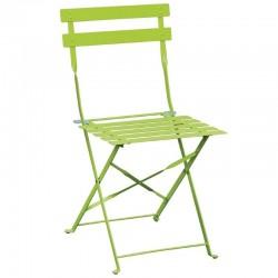 Bolero - Chaises de terrasse en acier vert anis (lot de 2)