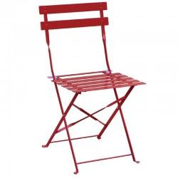 Bolero - Chaise de terrasse en acier rouges (lot de 2)