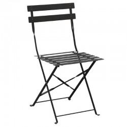 Bolero - Chaise de terrasse en acier noirs (lot de 2)