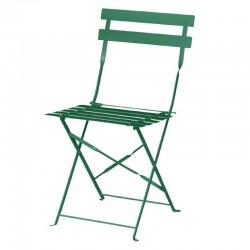 Bolero - Chaises de terrasse en acier vertes foncées (lot de 2)