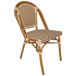Bolero - Chaises en rotin continental Bistro 890 mm (lot de 4)
