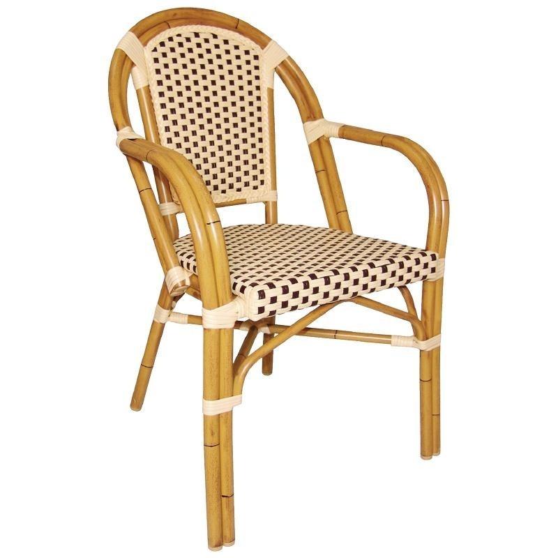 achat vente fauteuils bistro continental imitation rotin bolero pas cher. Black Bedroom Furniture Sets. Home Design Ideas