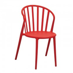 Bolero - Chaises à barreaux en PP rouges (lot de 4)