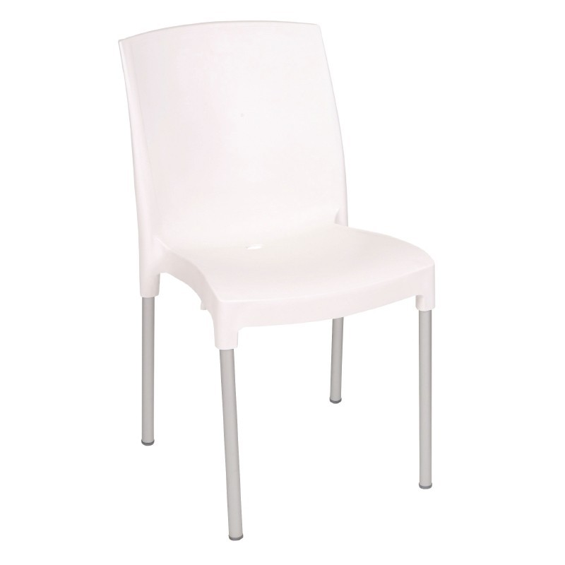 achat vente chaises bistro empilables blanches bolero pas cher. Black Bedroom Furniture Sets. Home Design Ideas