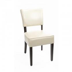 Bolero - Chaises confortables en simili cuir écru (lot de 2)