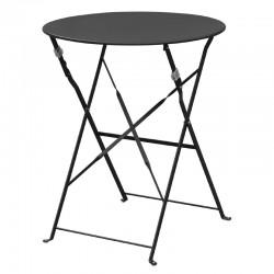 Bolero - Table de terrasse en acier noir
