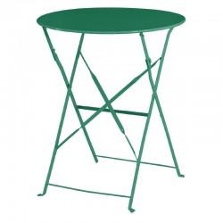 Bolero - Table de terrasse en acier verte