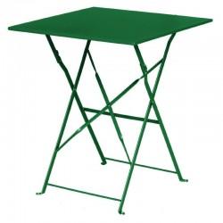 Bolero - Table de terrasse carré en acier verte