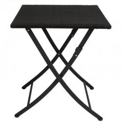 Bolero - Table carrée pliante en rotin PE
