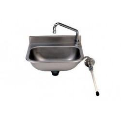 Lave mains inox - commande fémorale