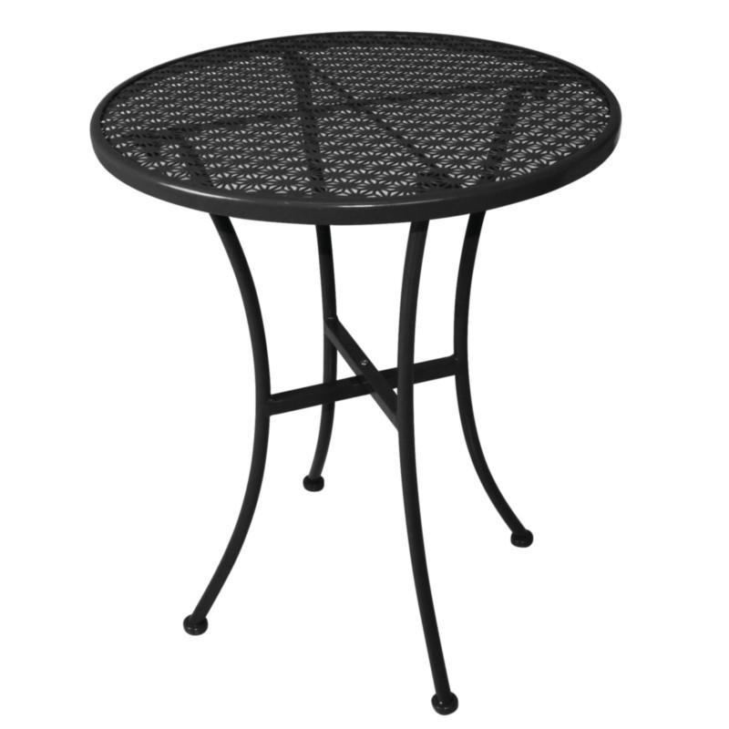 Vente Bolero Table bistro ajouré Achat acier pas en noire ronde cher tCsdhQrx