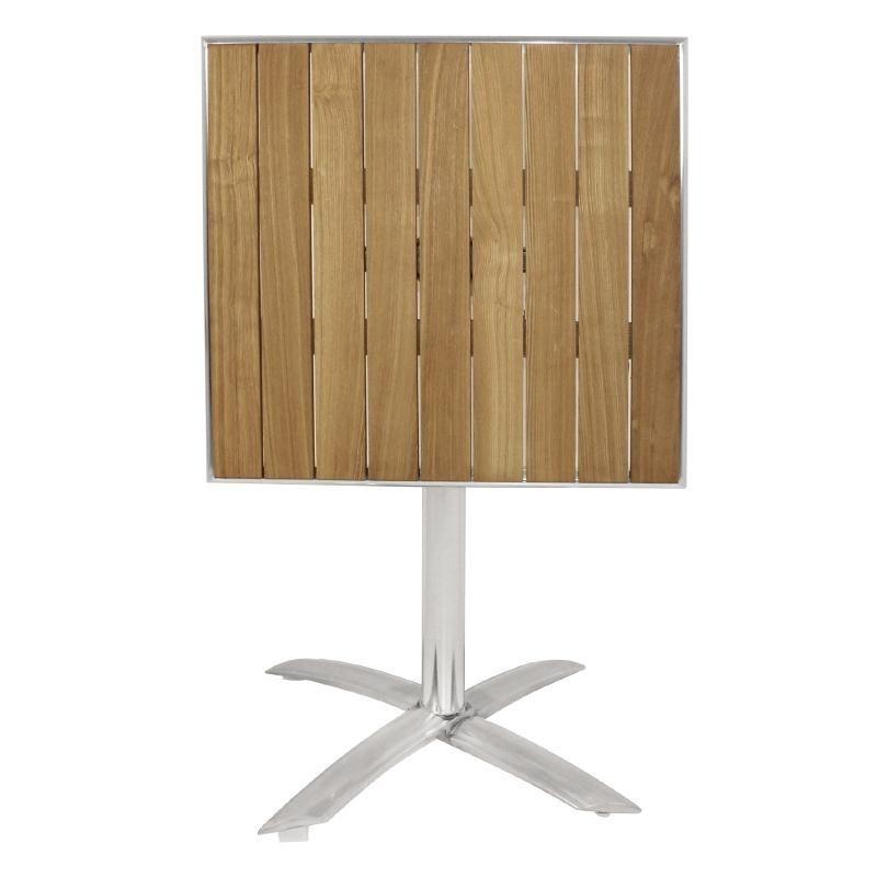 Bolero - Table bistro carrée plateau basculant en frêne Bolero
