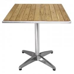 Nisbets - Table carrée en frêne 600 mm Bolero