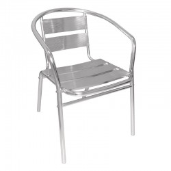 Fauteuils empilages en aluminium Bolero ( Lot de 4)