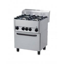 RM Gastro - Fourneau 4 feux sur four électrique