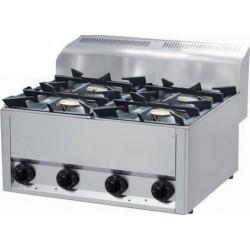 RM Gastro - Plan de cuisson 4 feux vifs