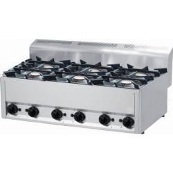 RM Gastro - Plan de cuisson 6 feux vifs