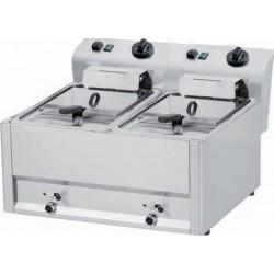 RM Gastro - Friteuse électrique 2 bacs 2 x 9 litres
