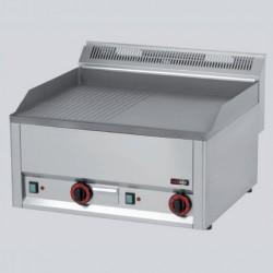 RM Gastro - Grill rainurée en acier Électrique
