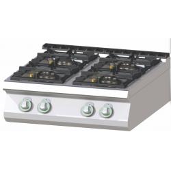 RM Gastro - Plan de cuisson 4 feux vifs version TOP