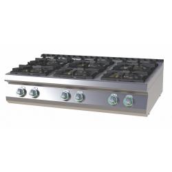 RM Gastro - Plan de cuisson 6 feux vifs version TOP