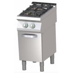 RM Gastro - Plan de cuisson 2 feux vifs sur placard ouvert