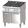 RM Gastro - Plan de cuisson 4 feux vifs sur placard ouvert
