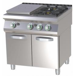 RM Gastro - Plan de cuisson 2 feux vifs + PCF sur placard ouvert