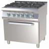 RM Gastro - Fourneau 4 feux vifs sur four électrique GN 1/1