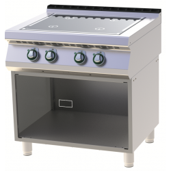 RM Gastro - Plan de cuisson induction 4 zones version monobloc