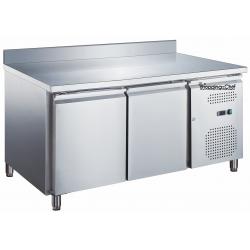 Le Shopping du Chef - Table réfrigérée 2 portes avec dosseret