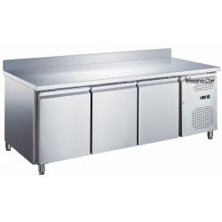 Le Shopping du Chef - Table réfrigérée 3 portes avec dosseret