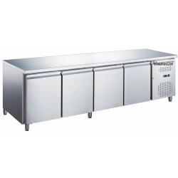 Le Shopping du Chef - Table réfrigérée 4 portes sans dosseret