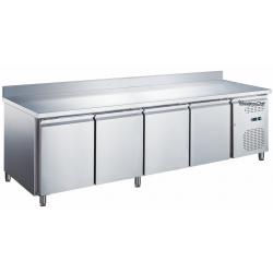 Le Shopping du Chef - Table réfrigérée 4 portes avec dosseret