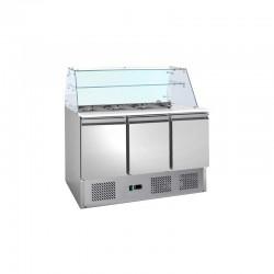 Le Shopping du Chef - Saladette réfrigérée 3 portes sans vitrine